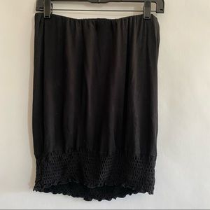 Strapless black top size small Veronica M